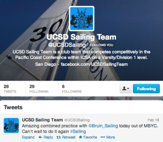 UCSD Sailing Twitter Page