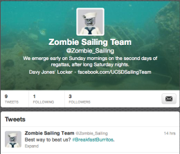 Zombie Sailing Team Twitter Account