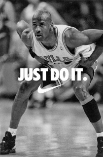 Online Marketing with Nike Just Do It Swoosh