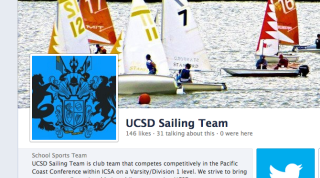 Picture of the UCSD Sailing Team's Facebook Page