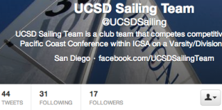 UCSD Sailing Team Twitter Page